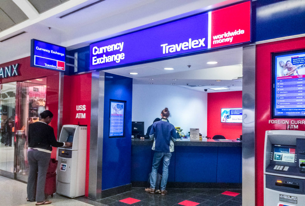 People using Currency Exchange