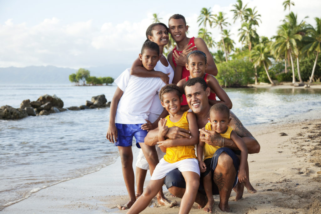 Family the Pacific Island